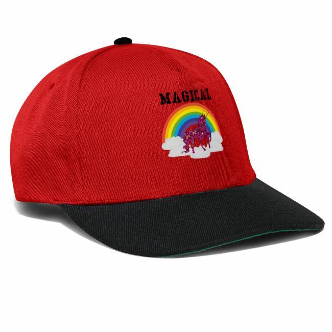 0cc5ebefb3a Snapback Cap. red glitter unicorn - red unicorn