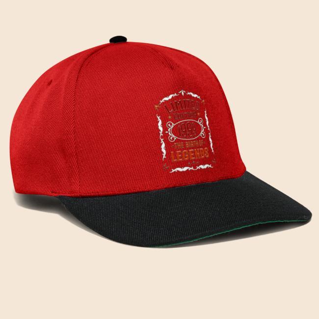 1999 Geboren Geschenk T Shirt Für 20 Geburtstag Snapback Cap