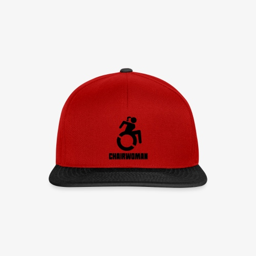 Rolstoel vrouw, chairwoman, dame in rolstoel, roll - Snapback cap
