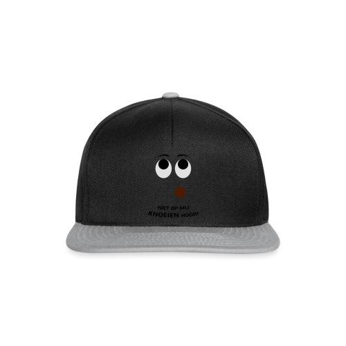 Grappige Rompertjes: Niet op mij knoeien hoor - Snapback cap