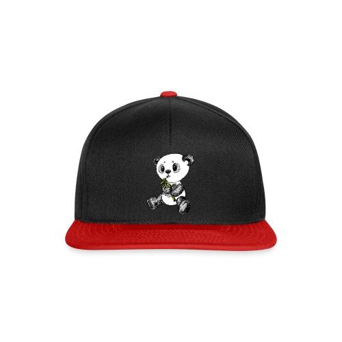 Panda Bär farbig scribblesirii - Snapback Cap