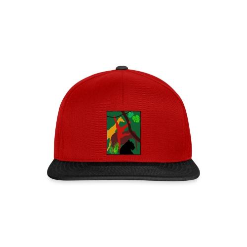 Dschungel - Panther-Affe-Elefant-Giraffe - Snapback Cap