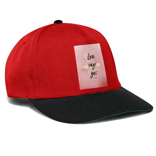 Love says yes blush marmor - Snapback Cap