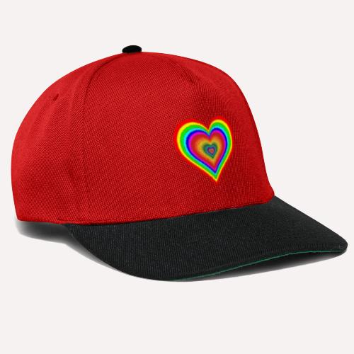 Heart In Hearts Print Design on T-shirt Apparel - Snapback Cap