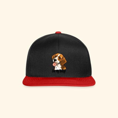 Chien beagle Be my baby (texte noir) - Casquette snapback