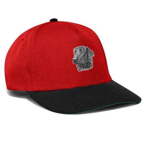 flatcoated retriever bw - Snapback Cap
