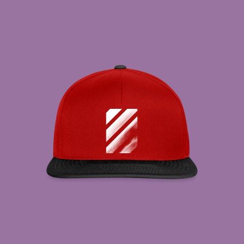 Stripes Diagonal White - Snapback Cap
