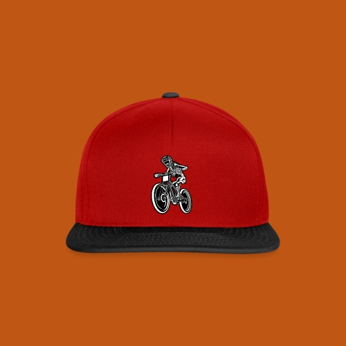 BMX / Mountain Biker 04_schwarz weiß - Snapback Cap
