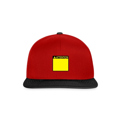 Attention Sign (2 colour) - Snapback Cap