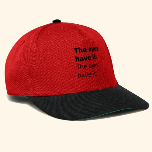 The ayes have it - Snapback Cap
