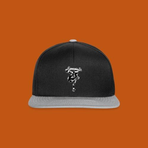 Skater / Skateboarder 03_schwarz weiß - Snapback Cap