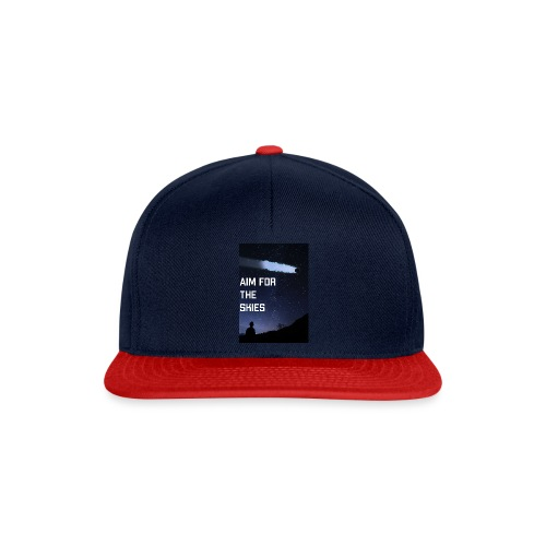aim for the skies high resolution - Snapback cap