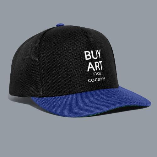 BUY ART NOT COCAINE (blanco) - Gorra Snapback