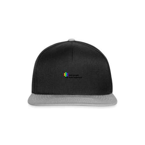 i help people - Snapback cap