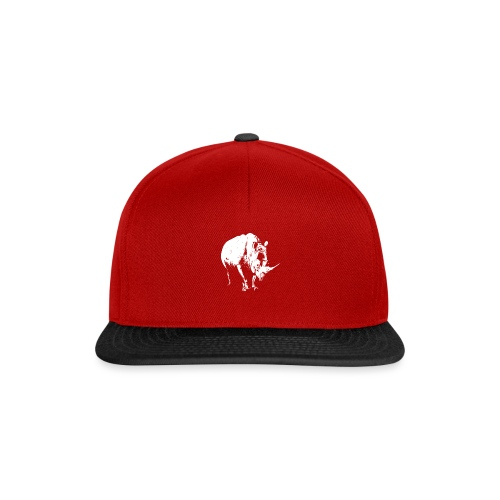 White Rhinoceros (highlights only) - Snapback Cap