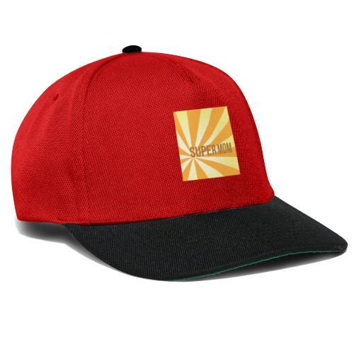 supermom maske2 - Snapback Cap