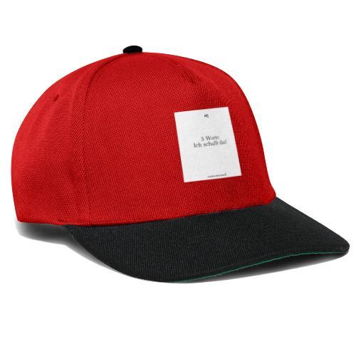 3 worte Weiß - Snapback Cap