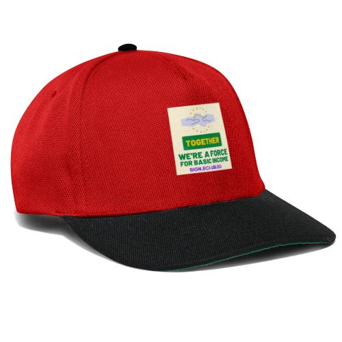 WE ARE A FORCE FOR basic income - Snapback cap