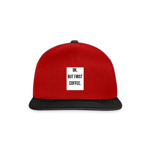 flat 800x800 075 fbut first coffee - Snapback cap