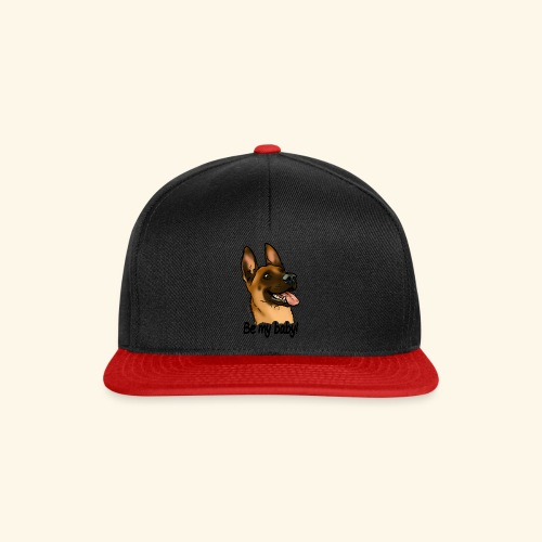 Be my baby berger malinois (texte noir) - Casquette snapback
