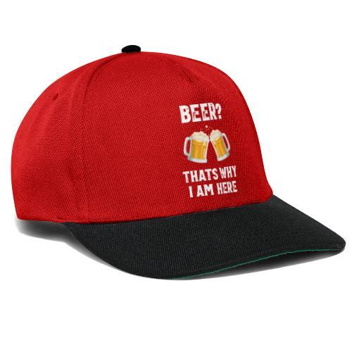 Bier Daarom Ben Ik Hier - Snapback cap