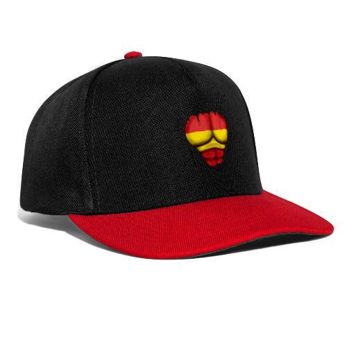 España Flag Ripped Muscles six pack chest t-shirt - Snapback Cap