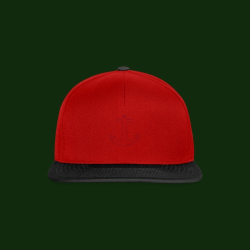 Anker gestrichelt - Snapback Cap