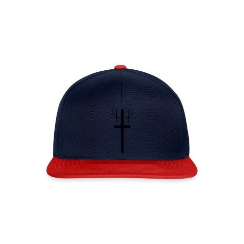 cross christus god jesus black - Snapback Cap