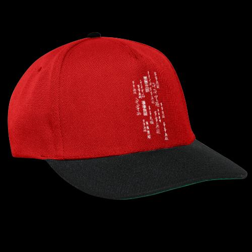 shishiwuai matrixrain - Snapback Cap