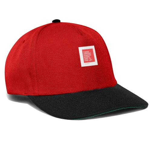 Three Arrows Pointed Down And To The Left - Snapback Cap