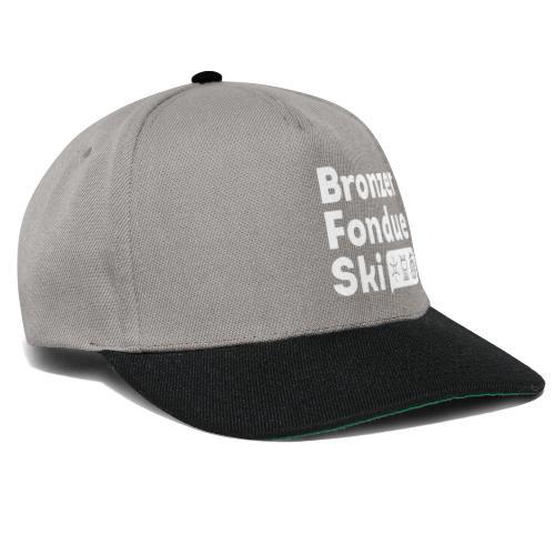 Bronzer, Fondue, Ski - Casquette snapback