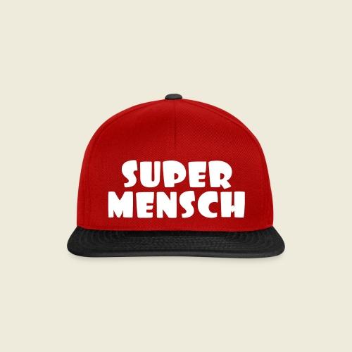 Supermensch in weiß - Snapback Cap