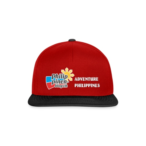 Philippinen-Blog Logo english schwarz/weiss - Snapback Cap