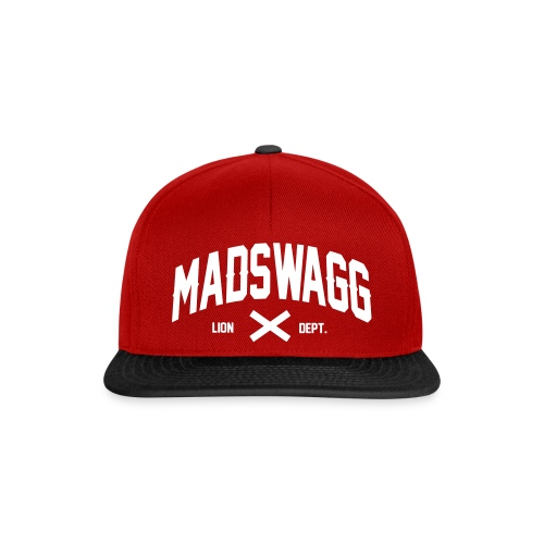 CAPS MADSWAGG DPT LOGO RED - Casquette snapback
