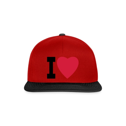 create your own I LOVE clothing and stuff - Snapback Cap