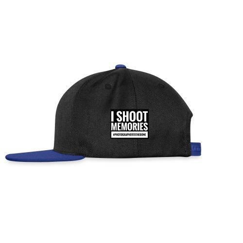 I SHOOT MEMORIES, #photographertothebone - Snapback Cap