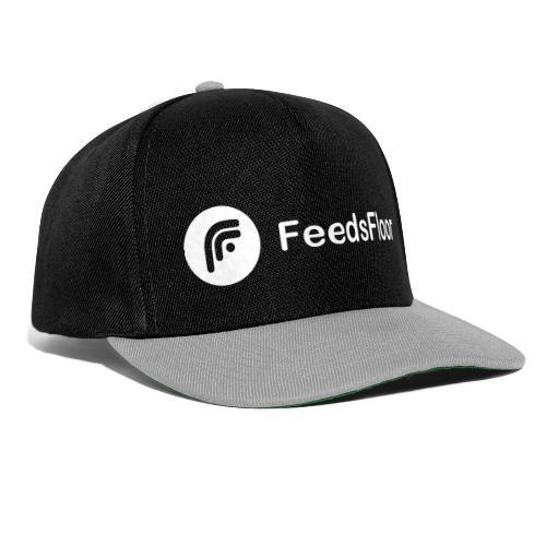 FeedsFloor Horizon - white logo - Snapback Cap
