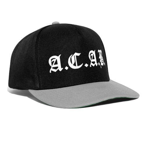 A.C.A.B. - Snapback Cap