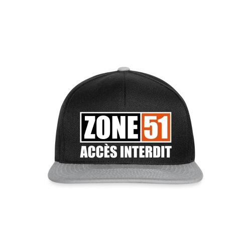 ZONE 51 - ACCES INTERDIT - Casquette snapback