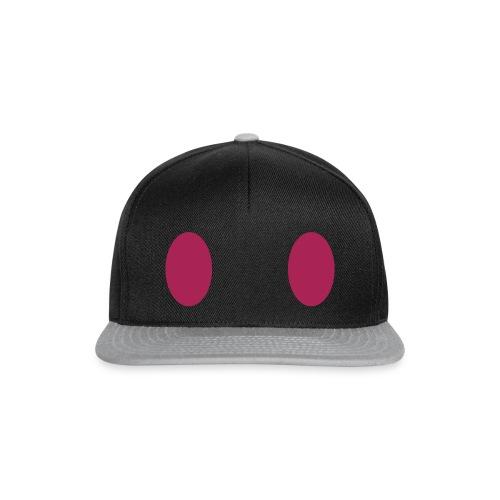 Zwei lila Augen Cap - Weit - Snapback Cap