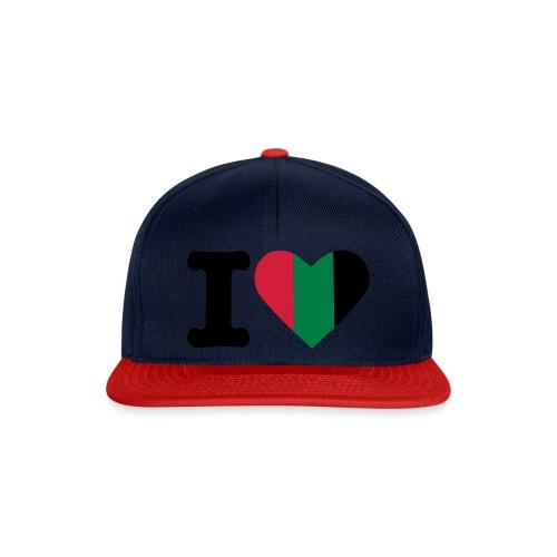 hartjeroodzwartgroen - Snapback cap