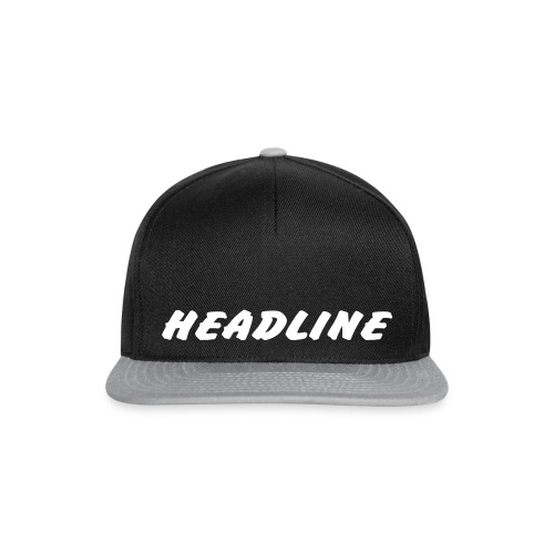 Schriftzug HEADLINE - Snapback Cap
