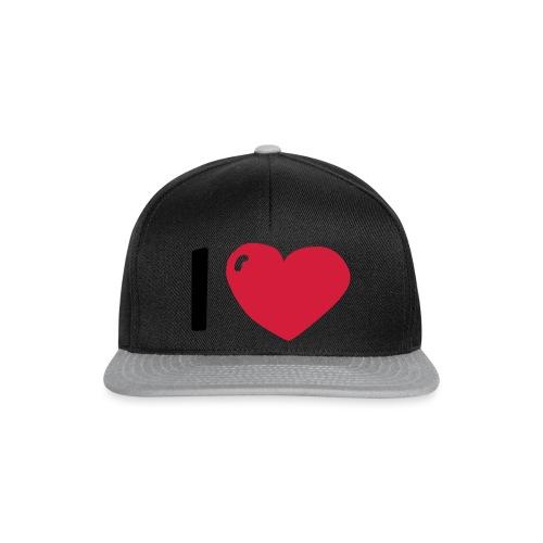 I love / I heart / I herz (Waldorf Style) - Snapback Cap