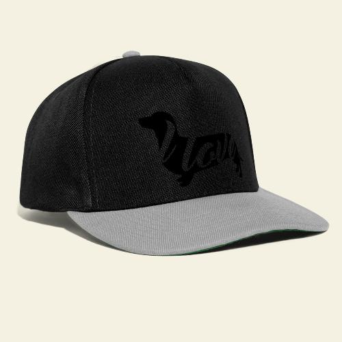 I love Dachshund Black - Snapback Cap