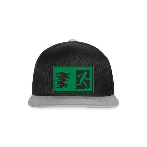 Notausgang / Feueralarm Symbol - Snapback Cap