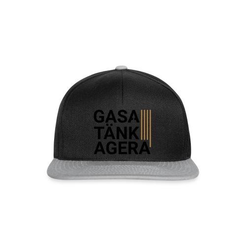 T-shirt för inspiration. Gasa-Tänk-Agera - Snapbackkeps