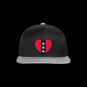 Hart met het symbool van de stad Amsterdam - Snapback cap