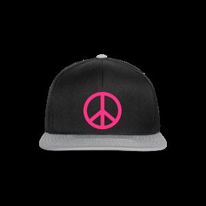 Gay pride peace symbool in roze kleur - Snapback cap