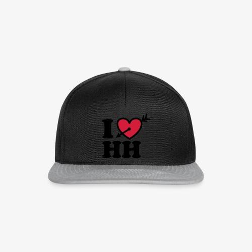 I LOVE (Herz) HH Hamburg Pfeil im Herzen b 2c - Snapback Cap