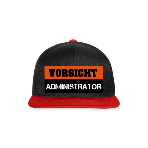 Vorsicht Administrator - Snapback Cap